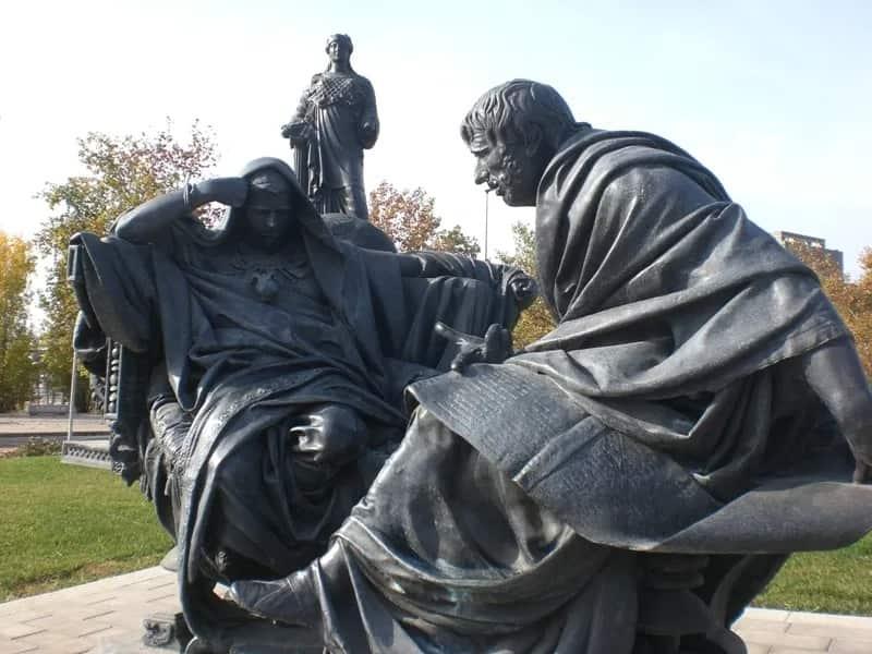 Нерон и Сенека, памятник в Кордове, Испания. Скульптор — Эдуардо Баррон