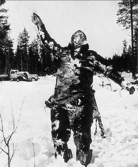 советский солдат заморожен